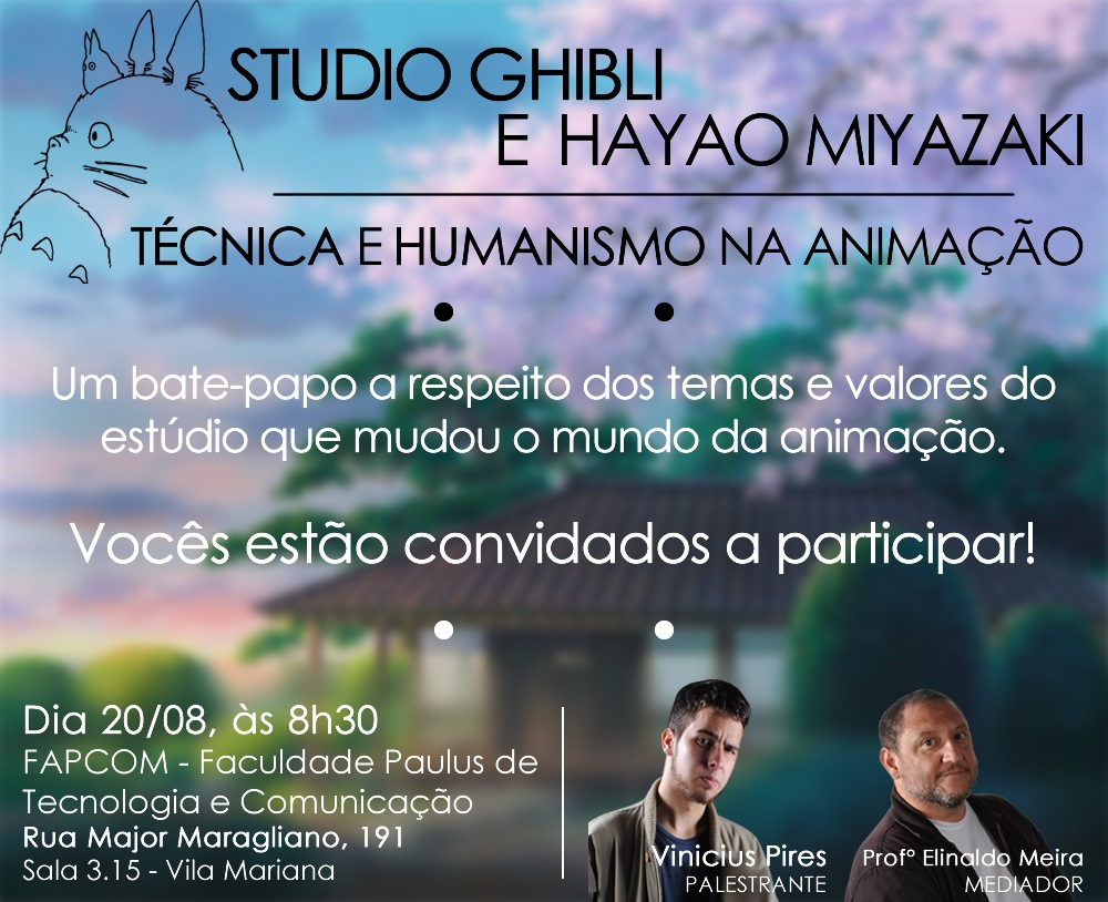 Banner - Palestra Studio Ghibli (Vinicius Pires - Multimidia 4º Sem) JPG