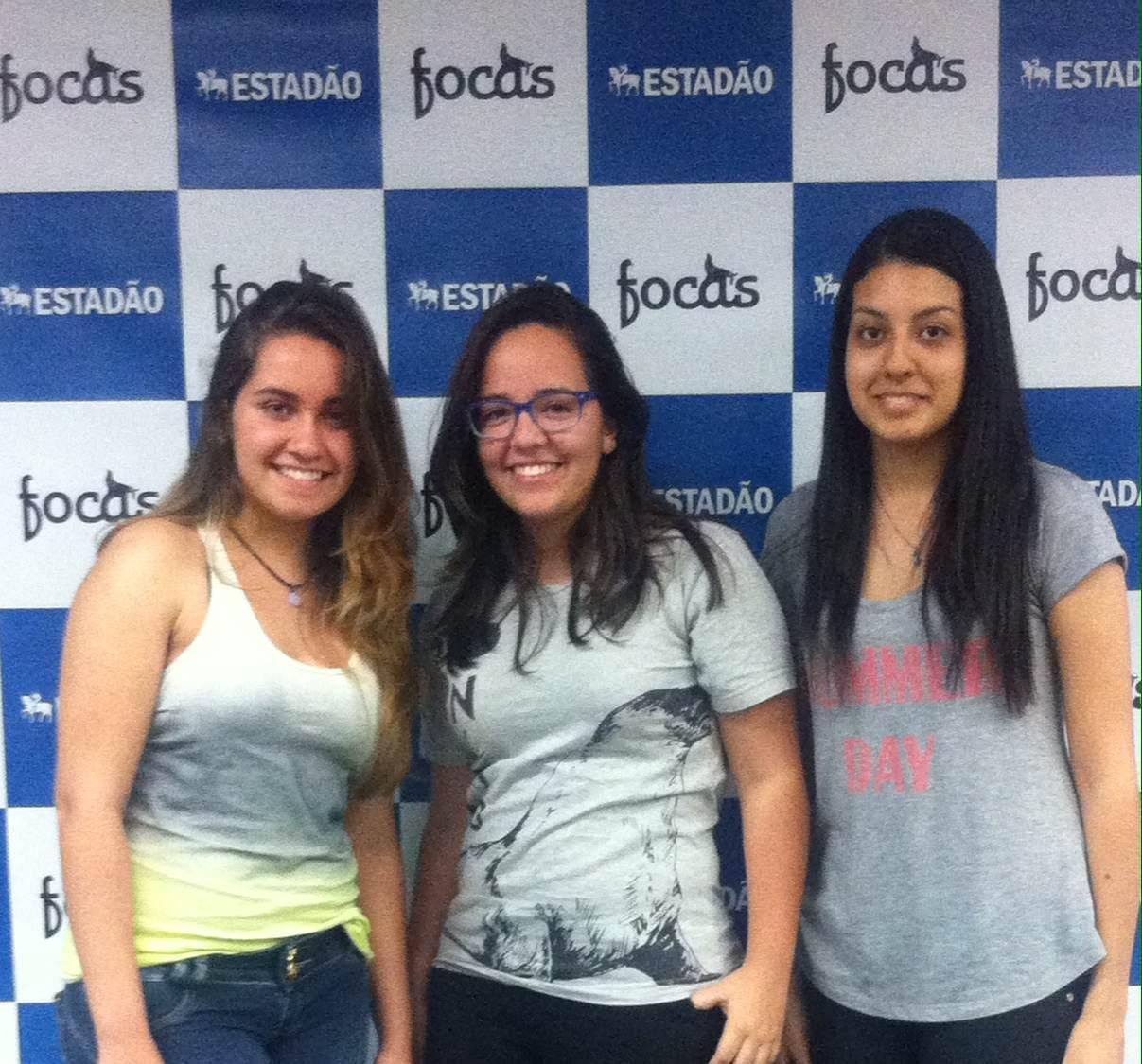 Beatriz Oliveira, Ana Paula Bimbati e Fernanda Pereira.