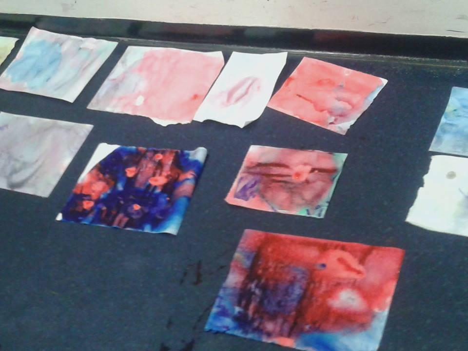 Resultado das pinturas dos espectadores