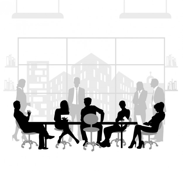 business-meeting-vector-silhouettes_23-2147495192
